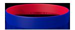 072C/186C <br> Blue/Red